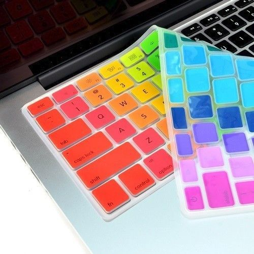 """Rainbow 14 Colors Keyboard Cover for Macbook 13"""" 15"""" 17"""" – TOP CASE"""