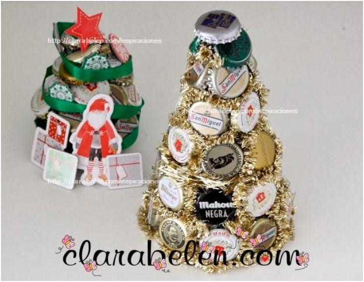 beer bottle cap christmas tree
