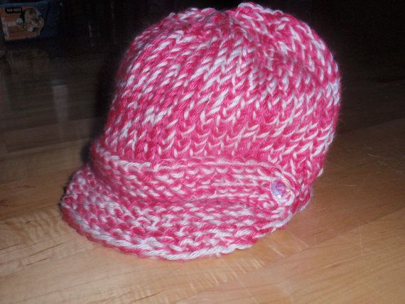 Pattern for Loom Knit Messanger/Newsboy Hat $4.00