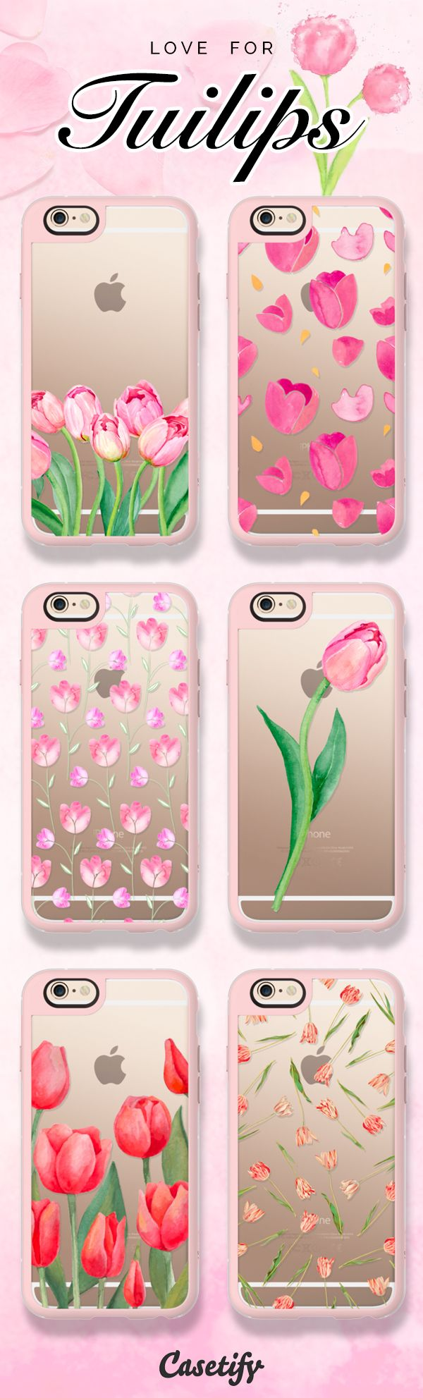 Tiptoe through the tulips. Tap the link to shop these elegant tulip cases: https://www.casetify.com/artworks/hNs68Hjo4k | @casetify