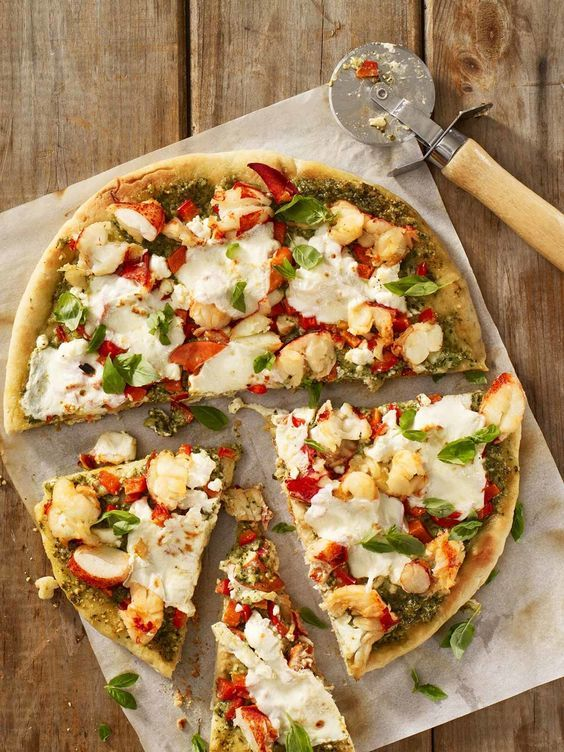 Forget takeout and make your own Maine Lobster Pizza! We can guess which one will be tastier. ;-)