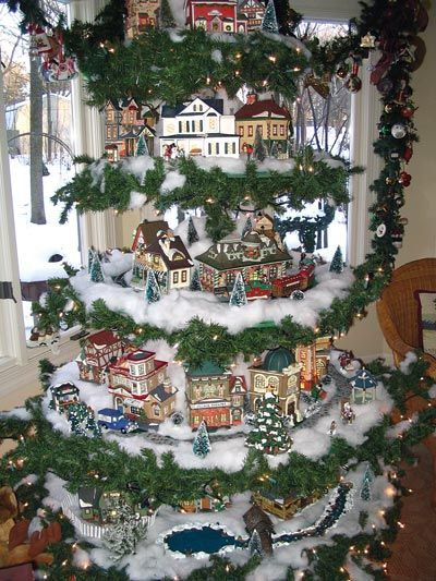 55 Best Christmas Village In The Tree Images On Pinterest