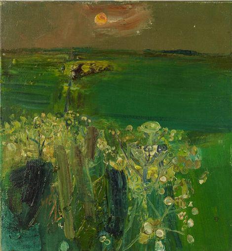 Joan Eardley, Green Fields and Sunset