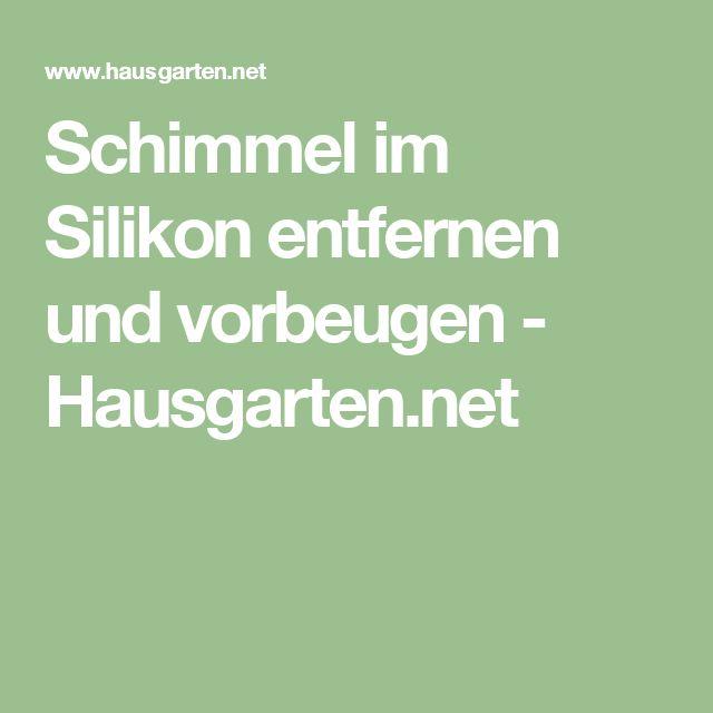 Schimmel im Silikon entfernen und vorbeugen - Hausgarten.net