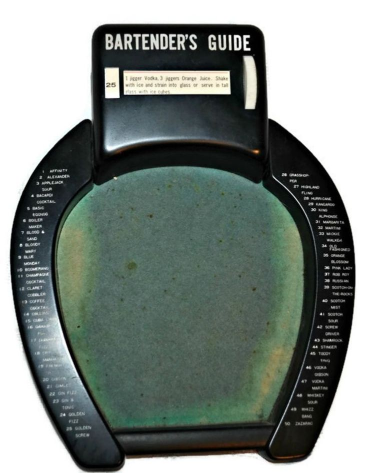 1950's Vintage Shields Horseshoe Design Bartenders Guide 50 Drinks Recipe Dial #Shields #Horseshoe