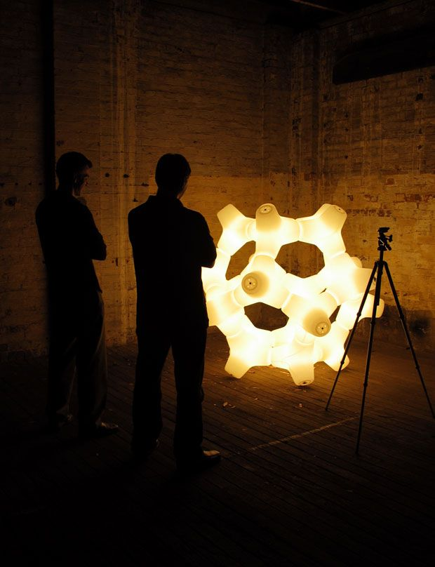 Coral is a geometrical unit that lends itself to the creation of endless organic light sculptures.