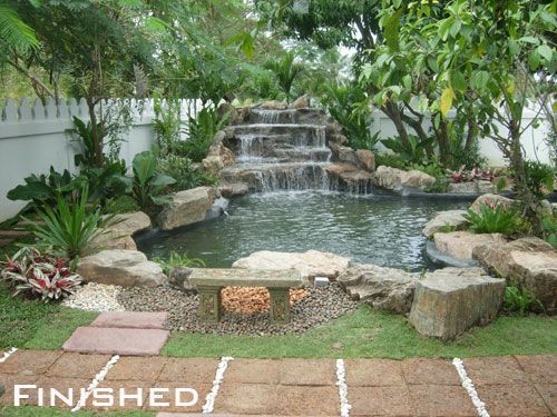 25 best ideas about outdoor waterfalls on pinterest for Waterfall design