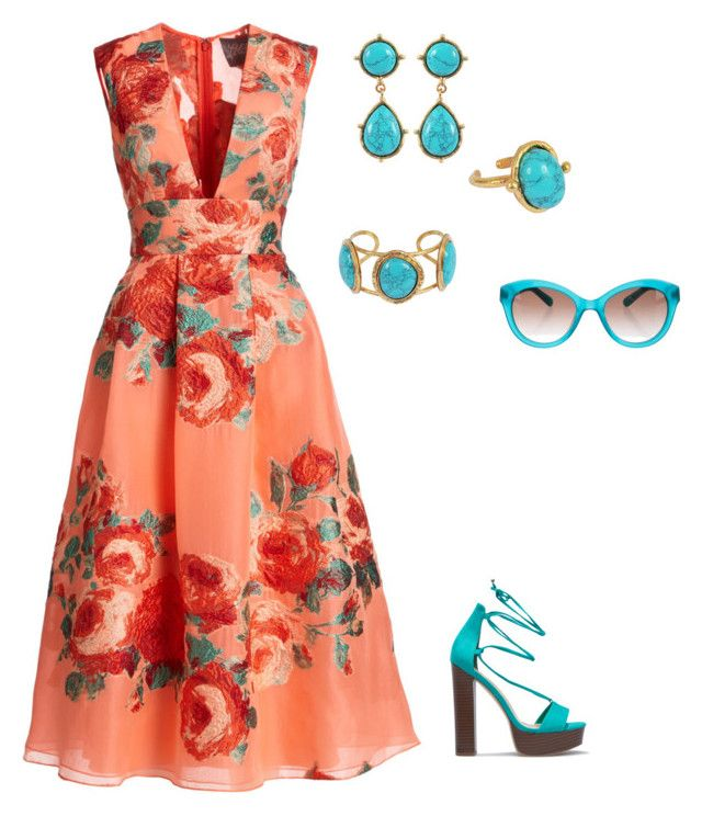 """""""Untitled #328"""" by lecoiffeur on Polyvore featuring Lela Rose, Sylvia Toledano and Kate Spade"""