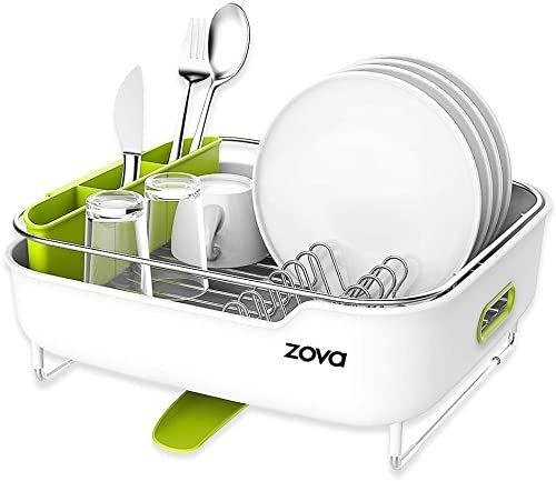 New Zova Premium Stainless Steel Dish Drying Rack Swivel Spout