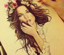Вдохновляющая картинка удивительно, искусство, нарисованное, рисунок, рисунки, цветы, девушка, волосы, 2918162 - Размер 500x500px - Найдите картинки на Ваш вкус