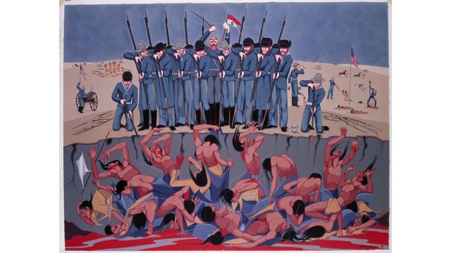 Oscar Howe's Wounded Knee Massacre, a Rarely Seen Masterpiece | KUSD