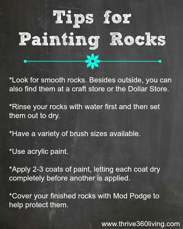 Thrive 360 Living: The Very Hungry Caterpillar Painted Rocks -- great tips for painting rocks (shared along with a really cool project!)