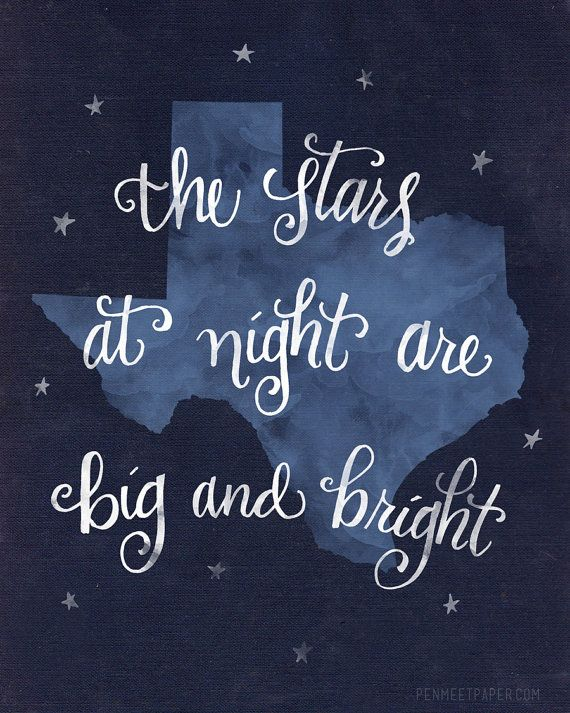 Texas print BLUE by kristenvasgaard on Etsy, $16.00