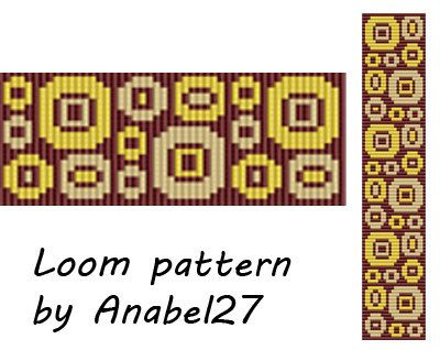 Bead loom pattern  Square stitch pattern   by Anabel27shop on Etsy