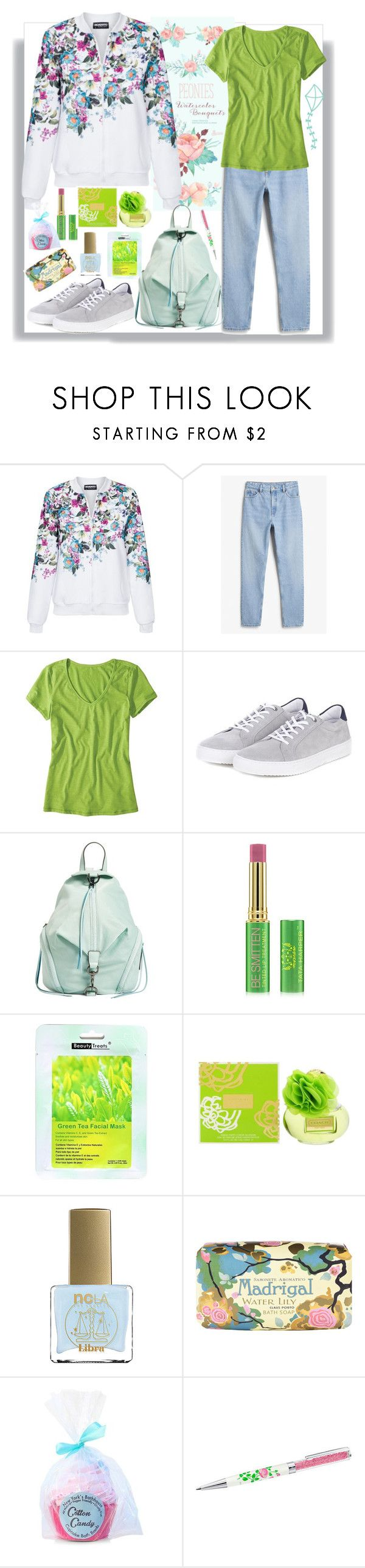 """""""Bomber Jacket"""" by natalyapril1976 on Polyvore featuring Mode, Monki, Horny Toad, Barbour, Rebecca Minkoff, Tata Harper, Coach, ncLA, Claus Porto und Forever 21"""