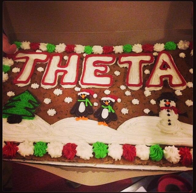 Gingerbread house by Gamma Delta/Georgia chapter. #thetaholidays #theta1870