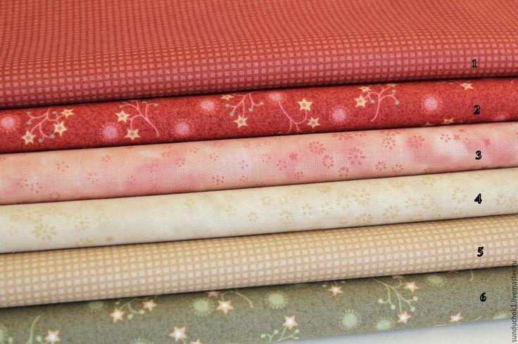 """Купить Коллекция """"Vintage Christmas"""" - бежевый, ткань, хлопок, винтажный стиль, рождество, рождественская ткань"""