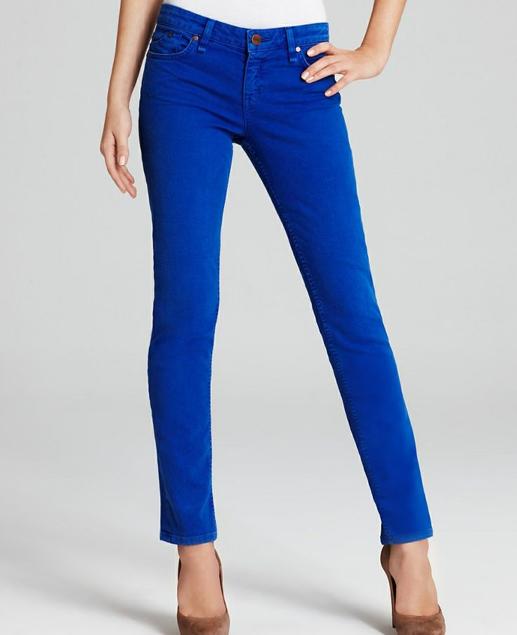 Got some in this color from stitch fix (kut from the kloth) Cobalt jeans - I'd like them mid rise, straight or skinny but not too skinny so I can wear with flats or sandals in spring