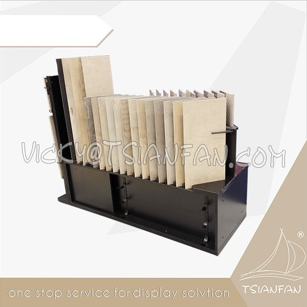 Acrylic Ceramic Tile Desktop Display Stand Tower