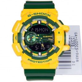 G-Shock Casio Yellow Green Analog Digital Magnetic Resist Sports Watch GA-400CS-9A GA400CS-9