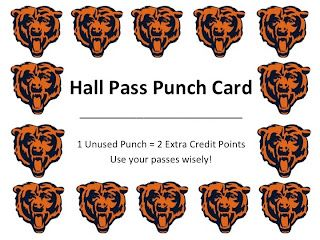 Miss Lifesaver: Teacher Tip Tuesday: Hall Pass Punch Card