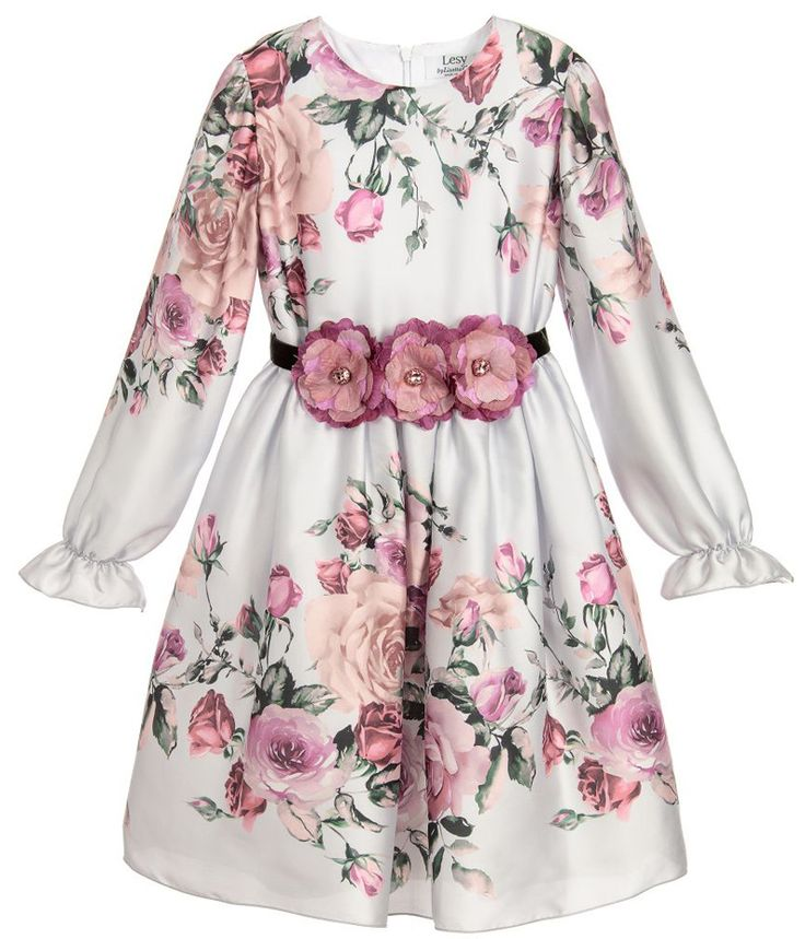 ALALOSHA: VOGUE ENFANTS: Must Have of the Day: Fresh and elegant, this handmade Lesy dress captures the luxurious spirit of Florence in its delicate floral motifs