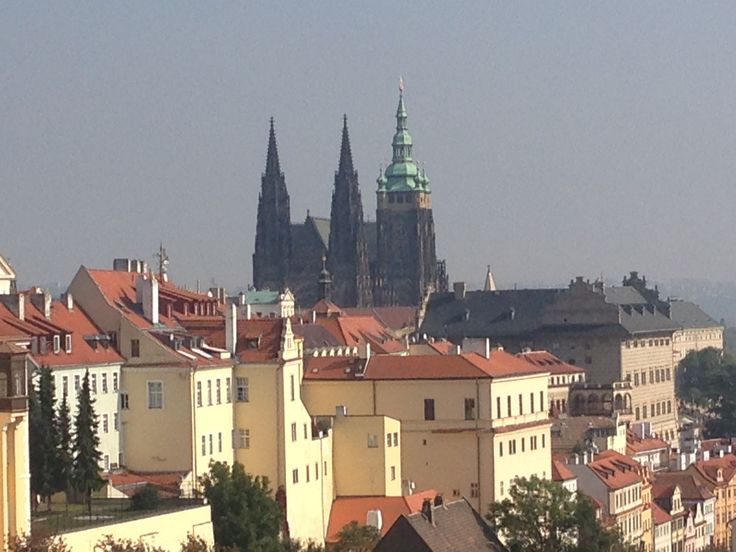St. Vitus Cathedral and old palaces at the Prague Castle