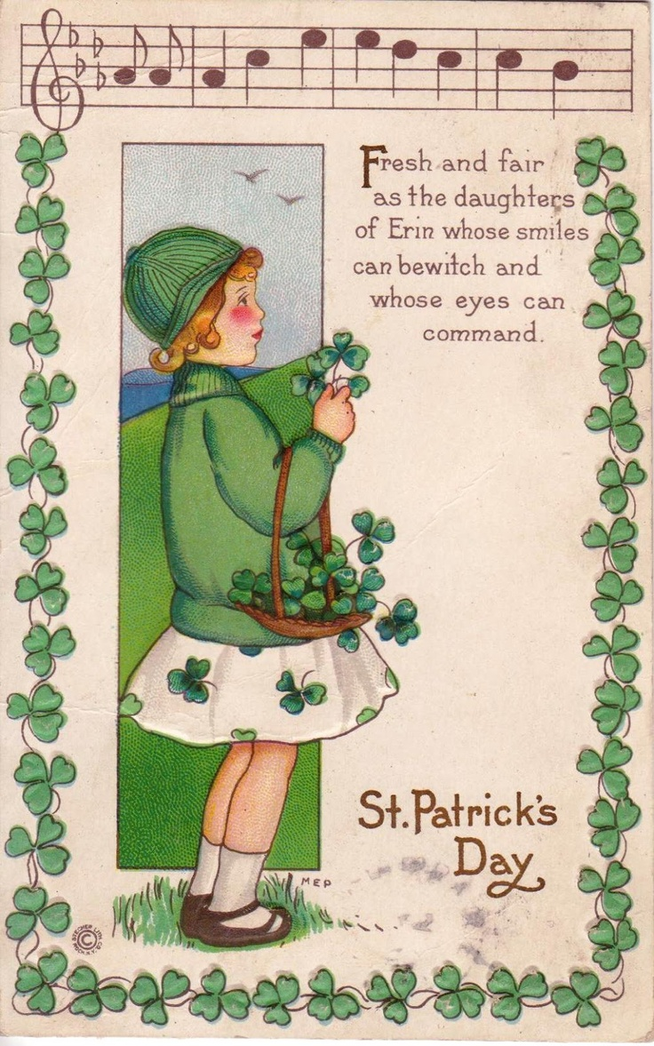 161 best st patricks day vintage and all things irish images on st patricks vintage postcard love the saying kristyandbryce Choice Image