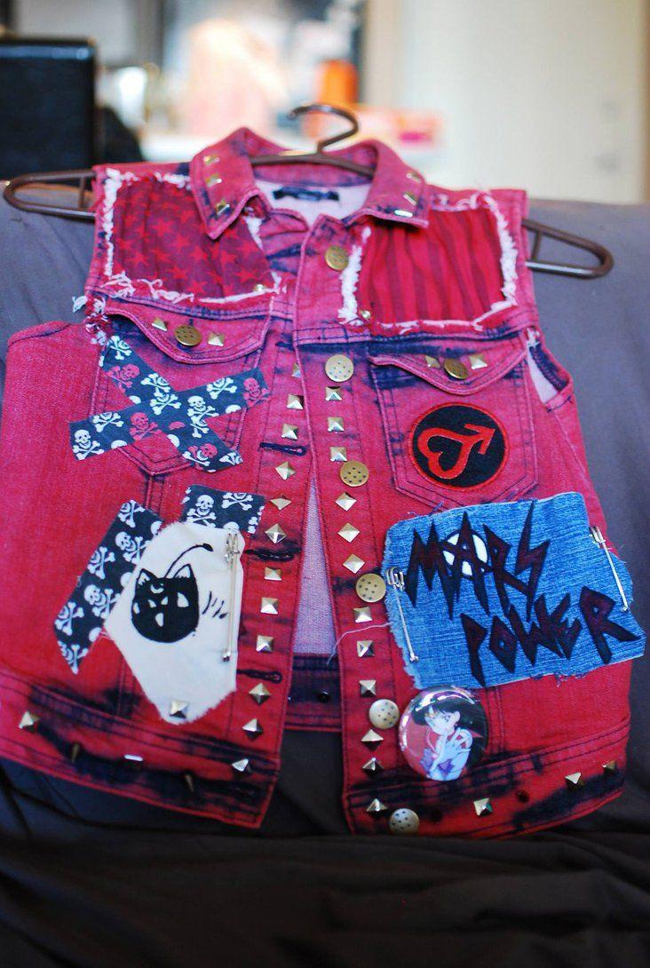 so cool..... Sailor Mars punk rock vest close-up from femmefatale23
