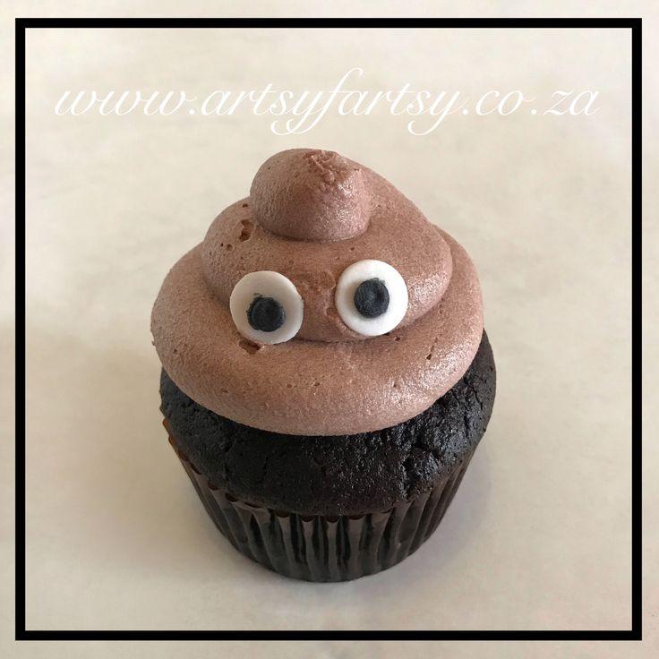 Poop Emoji Cupcakes #poopemojicupcake