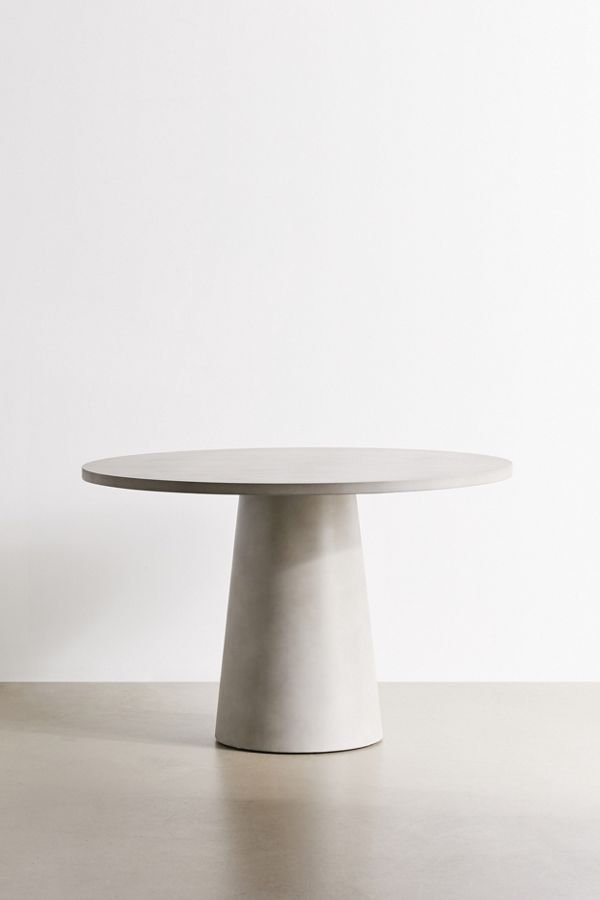 Daphne Concrete Outdoor Dining Table In 2020 Concrete Dining Table Concrete Outdoor Dining Table Round Pedestal Dining Table