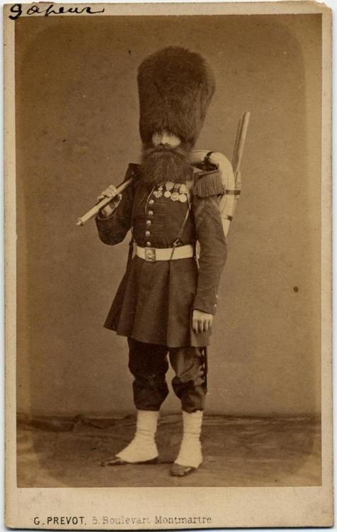 A French Grenadier Sapeurs of the Imperial Guard during the Crimean War, 1855.: