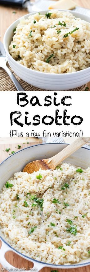 Don't be intimidated by making risotto – it's easy! This basic risotto makes a great side dish for any protein you like and also allows for a lot of variation. Adding vegetables and a protein can turn it into a delicious main dish. {Gluten-free}