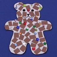 My pin! You will need a cut out of a bear, cuts up pieces of brown construction paper, a arker, and stickers or buttons and other fun items. The objective is for the kids to be able to identify shapes and colors.