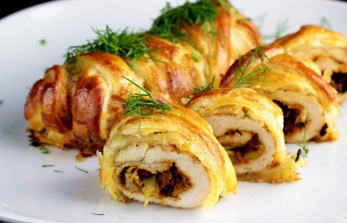 Roladki z warzywami w cieście francuskim idealne na obiad <3 http://ostra-na-slodko.pl/2016/05/02/roladki-z-indyka-z-warzywami-w-ciescie-francuskim/
