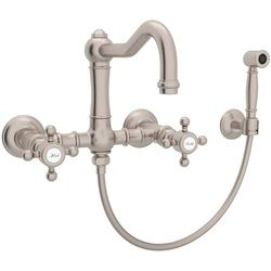 Rohl RA1456XMWSAPC2 Country Kitchen Wall Mount Kitchen Faucet - Chrome