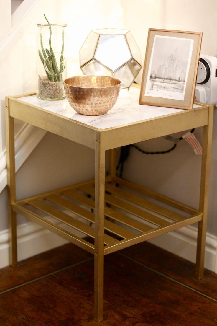 Best 25+ Bedside Table Ikea Ideas On Pinterest  Ikea Side Table, Ikea Table  Hack And Gold Nightstand