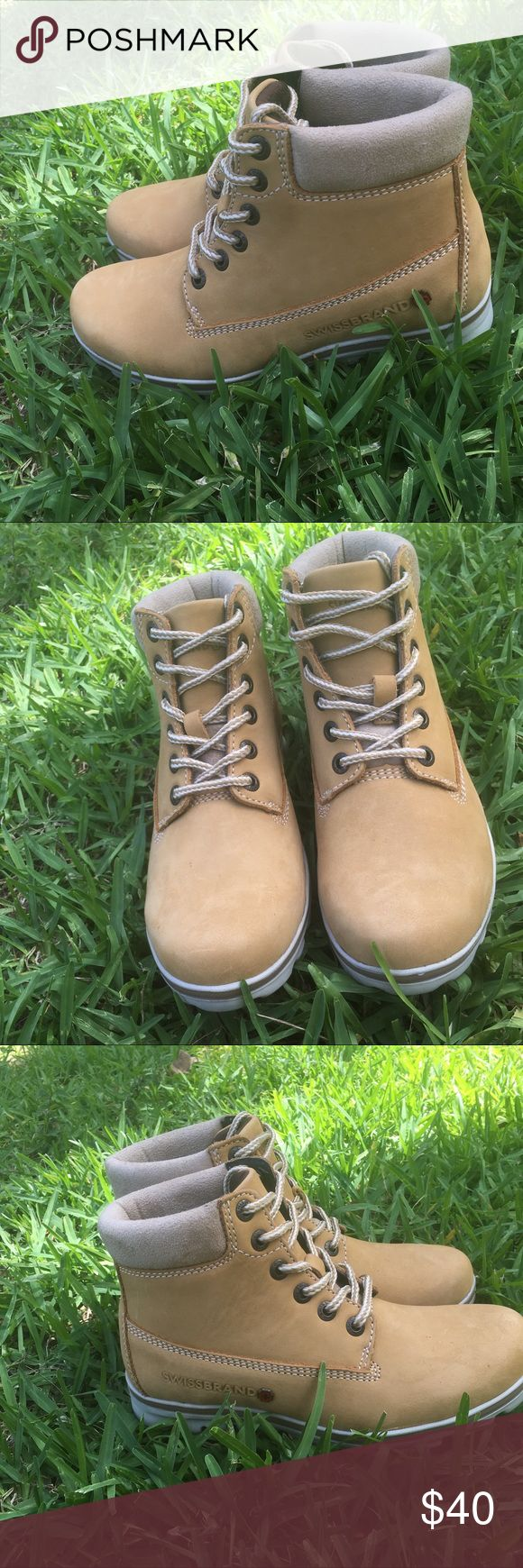 Swiss brand women hiking boots Brand new, never worn. swissBRAND Shoes Lace Up Boots