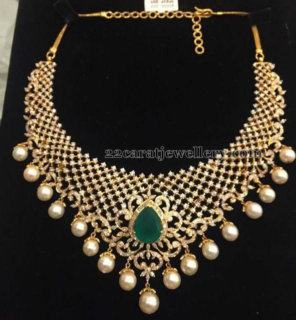 Diamond Necklace 9 Lakhs - Jewellery Designs