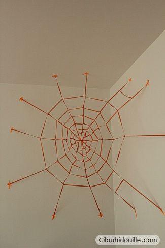 Ciloubidouille » Fabriquer une toile d'araignée géante