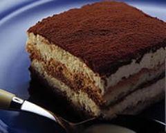 Sucré - Tiramisu à l'italienne pour 6 pers. Ingrédients : 250 g de mascarpone- 5 oeufs- 6 càs de sucre- 1 bol de café noir- 2 paquets de boudoirs- 100 g de cacao amer. Recette (facile) sur le site.
