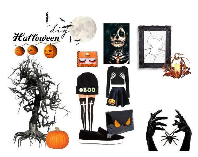 """Horror night"" by andrea-sara-maniga on Polyvore featuring moda, ASOS, Chicnova Fashion e By Emily"