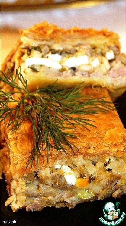 """Мясной пирог """"Креатопита"""" - кулинарный рецепт"""