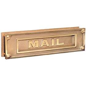 Mail Slot Deluxe Solid Brass Brass Finish
