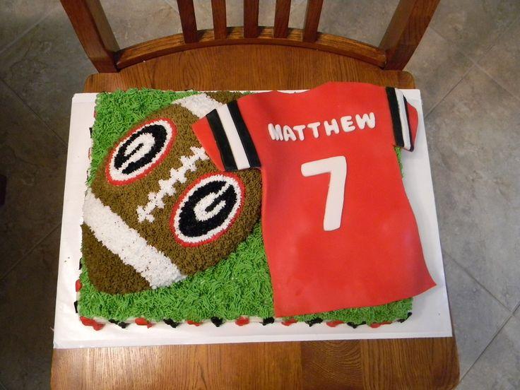UGA cake   Georgia Bulldog Football Cake — Birthday Cakes