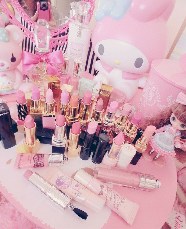 Pink makeup ღ Pink makeup, Cute makeup, Kawaii makeup