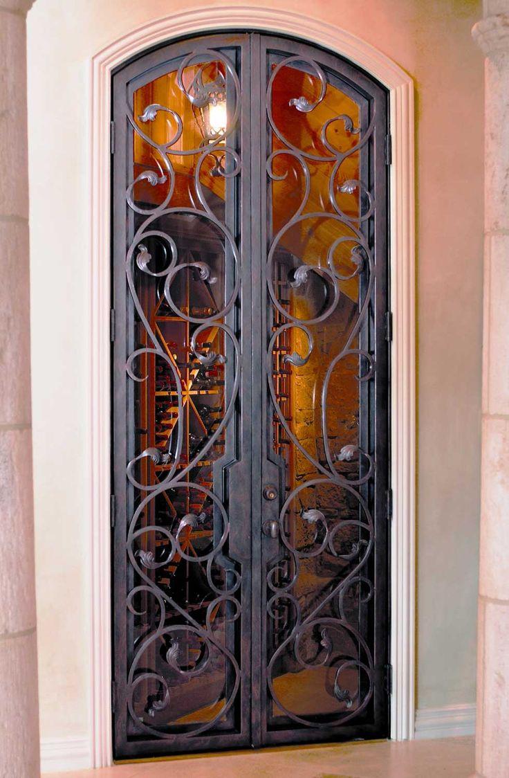 Wine Cellar Iron Doors & Gates Texas & Florida - Cantera Doors