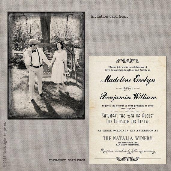 Hochzeitseinladung die Madeline 1 von NostalgicImprints auf Etsy
