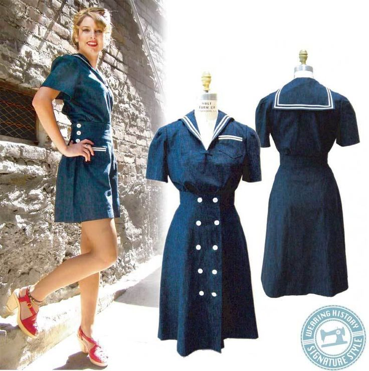 1940s Sailor Girl Playsuit Pattern- Blouse, Shorts, and Skirt - Wearing History