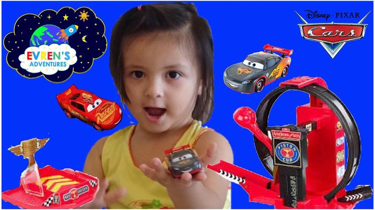 DISNEY PIXARS CARS Lightning McQueen Trackset KIDS TOYS REVIEW. Evren and Daddy play with Disney Cars Lightspeed Lopping Launcher. Evren races the new Racing Disney Pixar Car Lightning Mcqueen Carbon Fiber Die Cast, the original Disney Car Lightning McQueen, color changer Disney Cars Boost, his friend Kurth and launches them through the Disney loop racing cars. Watching Disney Cars flying through the air and leaping over the other cars into the landing zone, raising a giant Piston Cup.